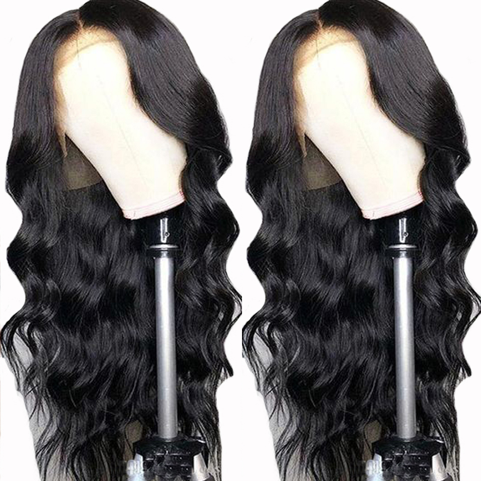 Transparent Lace Color 8 20inch Body Wave Full Lace Human Hair Wigs For Women With Baby
