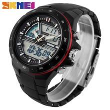 Skmei для мужчин спортивные часы Военная Униформа повседневное спортивные для мужчин кварцевые часы водонепроница силиконовые часы мужской S шок…