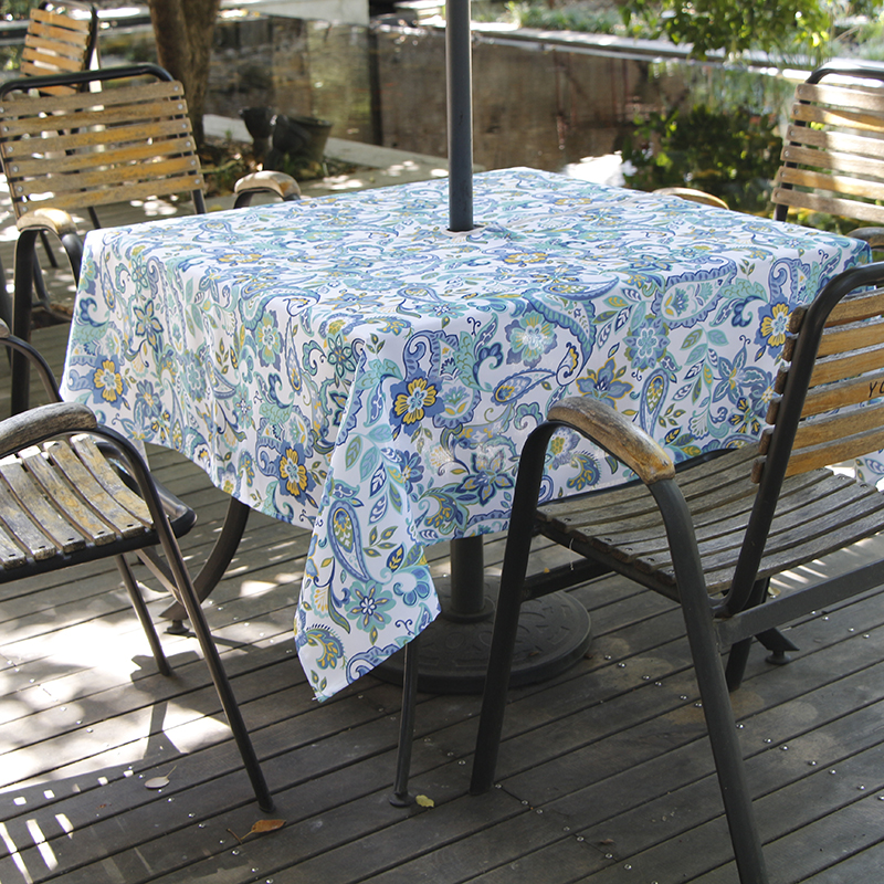 Ufriday Fashion Paisley Zipper Tablecloth Outdoor Square