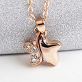 2015 New  Gold Plated  Star Pendant Necklace With Austrian Crystals Bijoux Women Fashion Jewelry