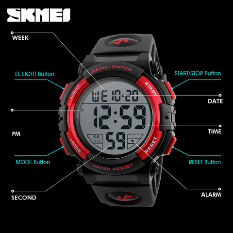 Hot SKMEI Brand Luxury Sports Watches Men Outdoor Fashion Digital Watch Multifunction LED Wristwatches Man Relogio Masculino Islamabad