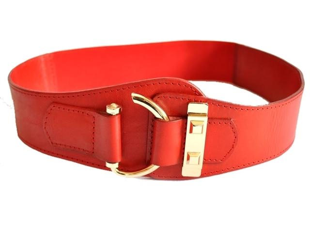 ab7761c0 Cinturones de Cuero genuino Para Las Mujeres Cinturones Cinturón Elástico  Ancho Cummerbund Femenino Ceinture Cintos Femininos Largos Corsé Retro ...