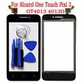 Новый Сенсорный Датчик Для Alcatel One Touch Pixi 3 4013D 4013 OT4013 Сенсорный Экран Стекла Digitizer Передняя Внешний Панель + Инструменты