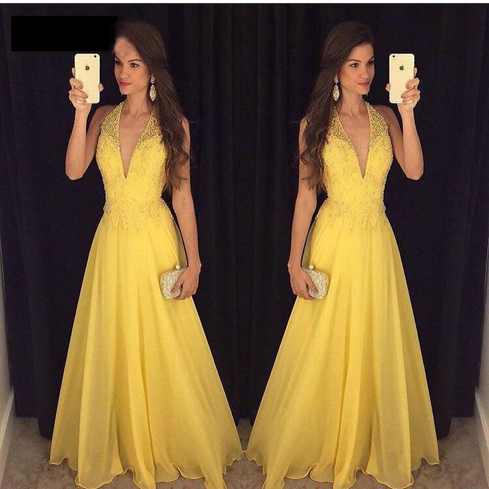 2019 col en V élégant robes De soirée en mousseline De soie avec dentelle robe formelle 2019 nouvelle robe De soirée De mariage personnaliser taille Vestido De Noiva