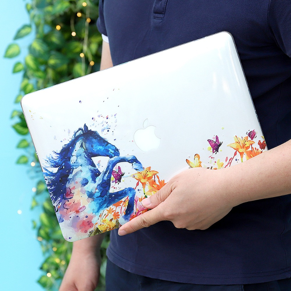 Floral Printing Hard Case for MacBook 103