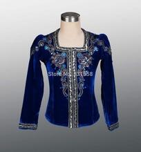 navy blue Ballet top for men,boy's ballet top ballet jacket for Man dance costumes,professional men's ballet top