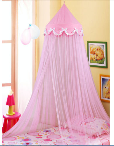Pink Dome Netting Canopy Fly Insect