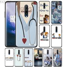 grey's anatomy tv show Phone Case for Oneplus 7 7Pro 6 6T Oneplus 7 Pro 6T Black Silicone Soft Case Cover