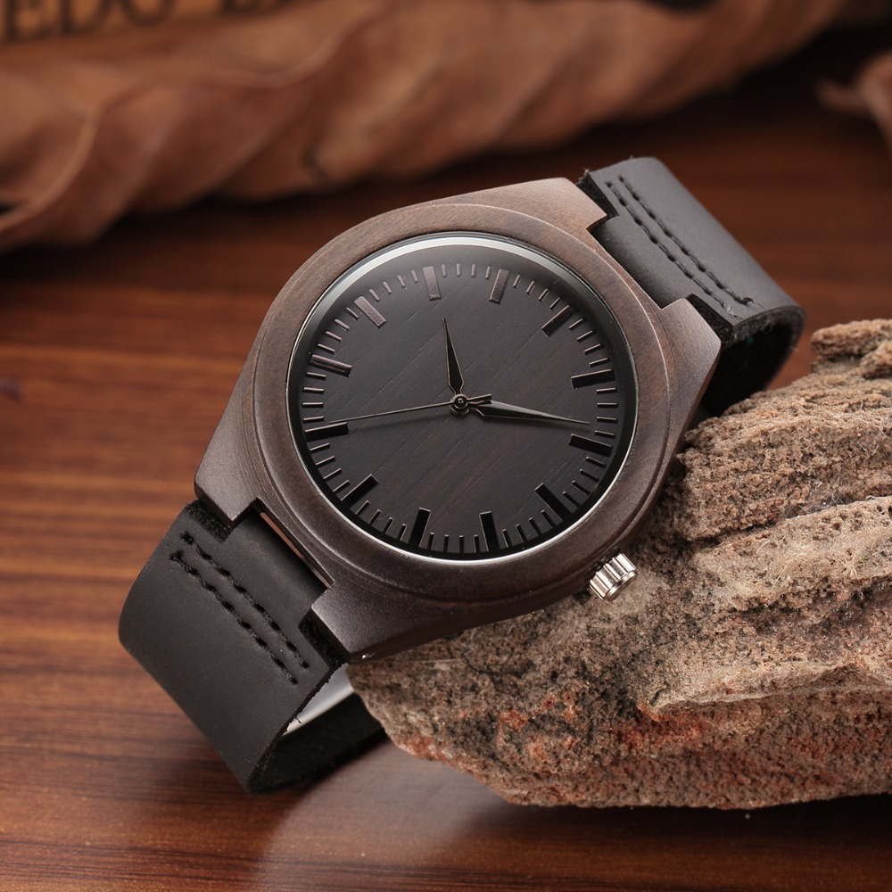 WEISIKAI Fashion Wooden Design Mens Womens Watches Casual Simple Leather Quartz Watch Scale Black Dial Wood Luxury Wristwatches (16)