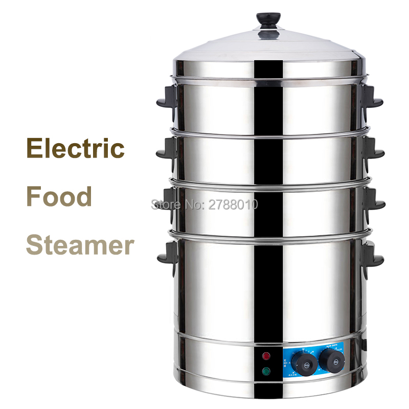 Multifunctional Electric Steamer Commercial Steaming Furnace Stainless Steel Electric Bun Steam Oven SYL-400 220v 600w 1 2l portable multi cooker mini electric hot pot stainless steel inner electric cooker with steam lattice for students