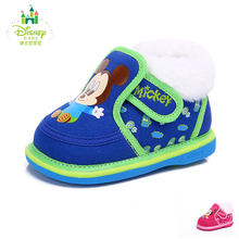 Disney Baby Infant Toddler Crib Shoes Soft Sole Kid Cotton  Shoes For Newborns Winter Snow Boot 3 COLORS Size 13.5-14.5 DH0041