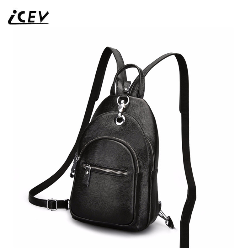 ICEV New Fashion Genuine Leather Chest Bags Handbags Women Famous Brands Ladies Cow Leather Double Shoulder Women Messenger Bags icev new korean fashion high quality simple genuine leather saddle crossbody bags for women messenger bags cow leather handbags
