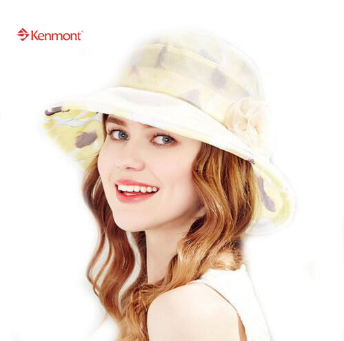 dcaab627a84 NEW 100% Real Silk Pink Flower Casual Romantic Wedding Bucket Beach Cap  Women Summer Adjustable