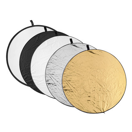 24 60cm 5 in 1 Portable Collapsible Light Round Photography Reflector for Studio Multi Photo Disc аксессуары для фотостудий oem 32 80 7 1 multi light reflector