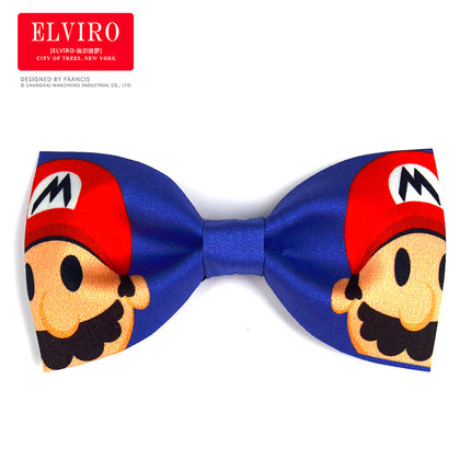 Free Shipping Luxury Mens Cartoon Super Mario Bow Tie/stage Stage Performance Bow Tie/tuxedo Tie