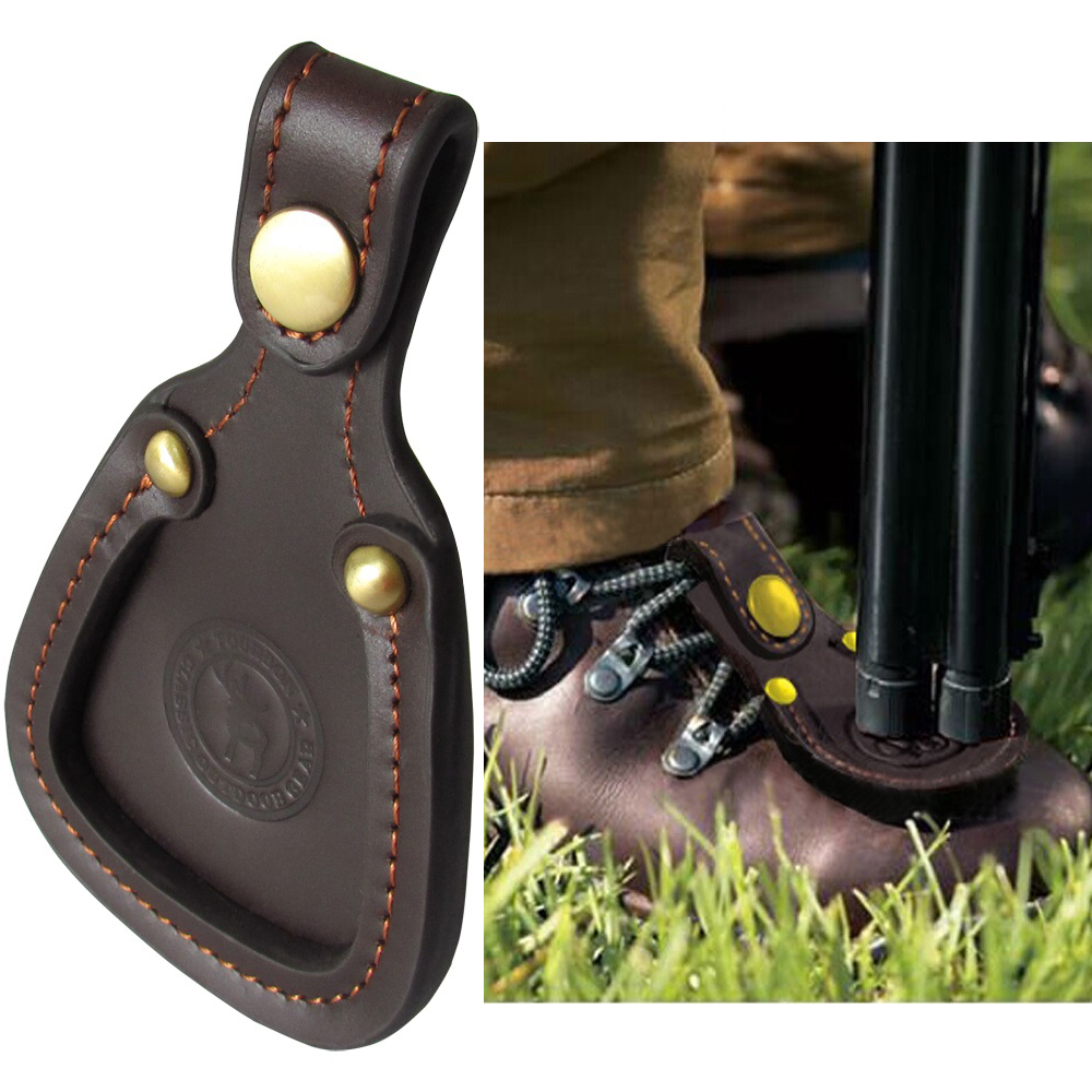 Tourbon Shooting Leather Toe Pad Skyddsskydd Clay Hunting Barrel Rest Trap Speltillbehör