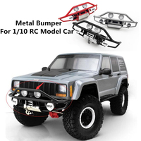 RC Car Metal BUMPER Assembly For 1/10 RC Crawler Truck Axial Scx10 ii 90046 90047 XJ Cherokee Remote Control Toys Upgrade Parts