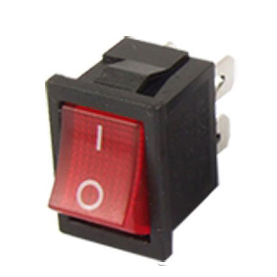 3pcs Red Light 4 Pin DPST ON-OFF Snap in Boat Rocker Switch 6A/250V 10A/125V AC on the open shanghai wing star ship switch kcd6 21n f ip65 waterproof switch 6a 4 foot red 220v