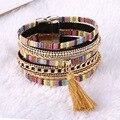 Magnetic Leather bracelets & bangles Bohemian Boho Multilayer Bracelets Jewelry for Women Men Gift