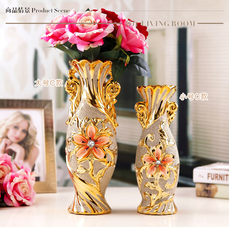 Jingdezhen chinese ceramic vases for decoration flower container jingdezhen chinese ceramic vases for decoration flower container vase for wedding decoration home decoration accessories in vases from home garden on junglespirit Gallery