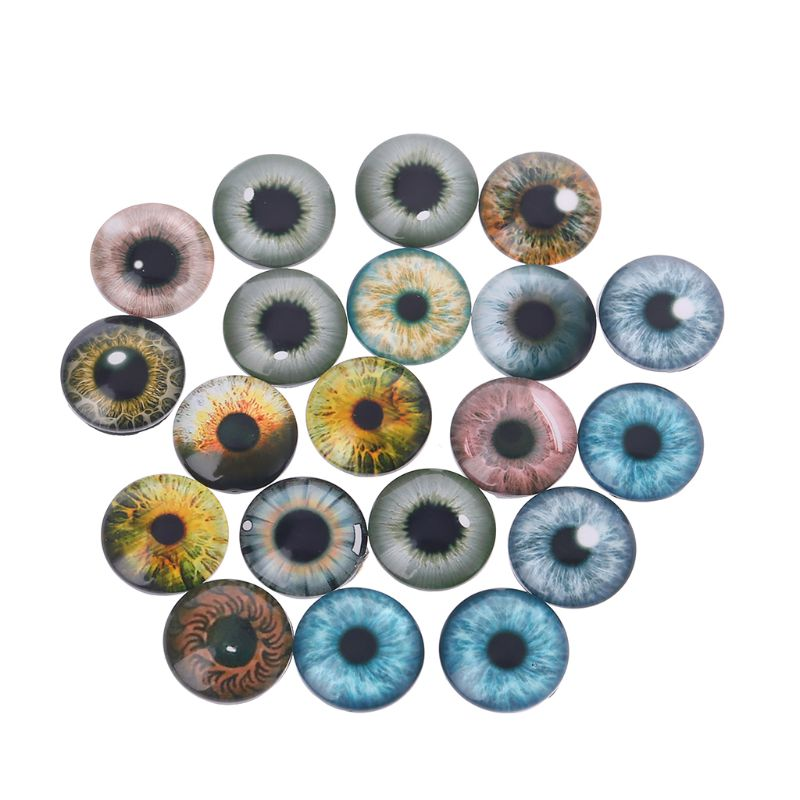 Vintage 9 mm Brown Plastic Animal Eyes 8 pairs
