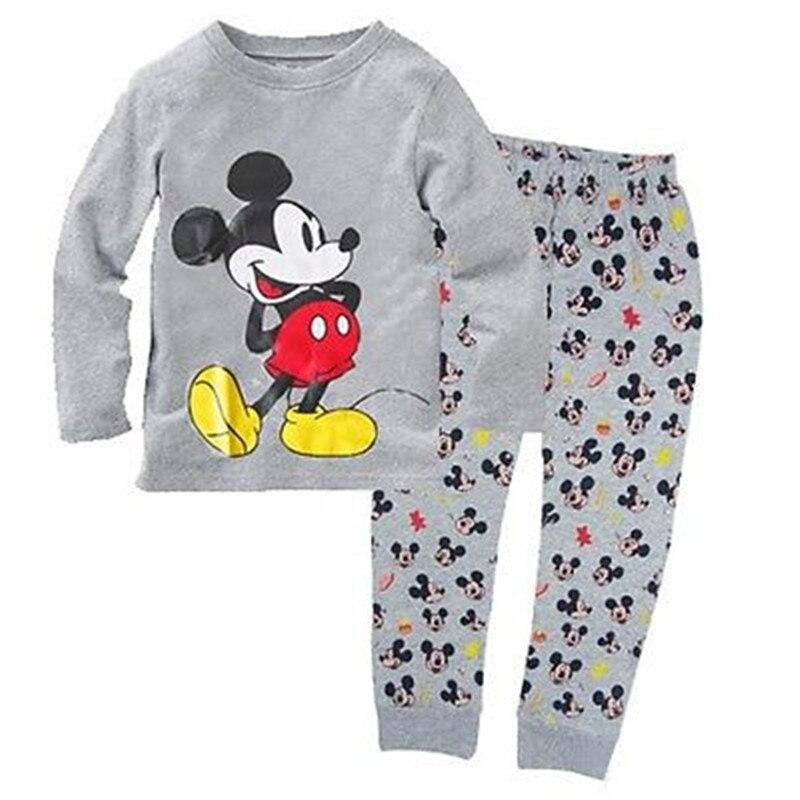 Erkek bebek Kız Çocuk Mickey Mouse Ev Tekstili Pijama Pijama Takımı Sleepsuit Gecelikler