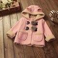 BibiCola outono inverno crianças roupas de bebê meninas outerwear casacos quentes crianças grosso casacos para Criança Das Meninas Encapuzados Hoodies longos