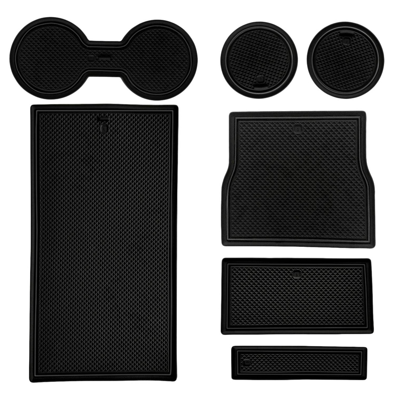 Cup Holder Pads For Tesla Model 3 2017~2019 Cup Holder Center Console Liner Mats(China)