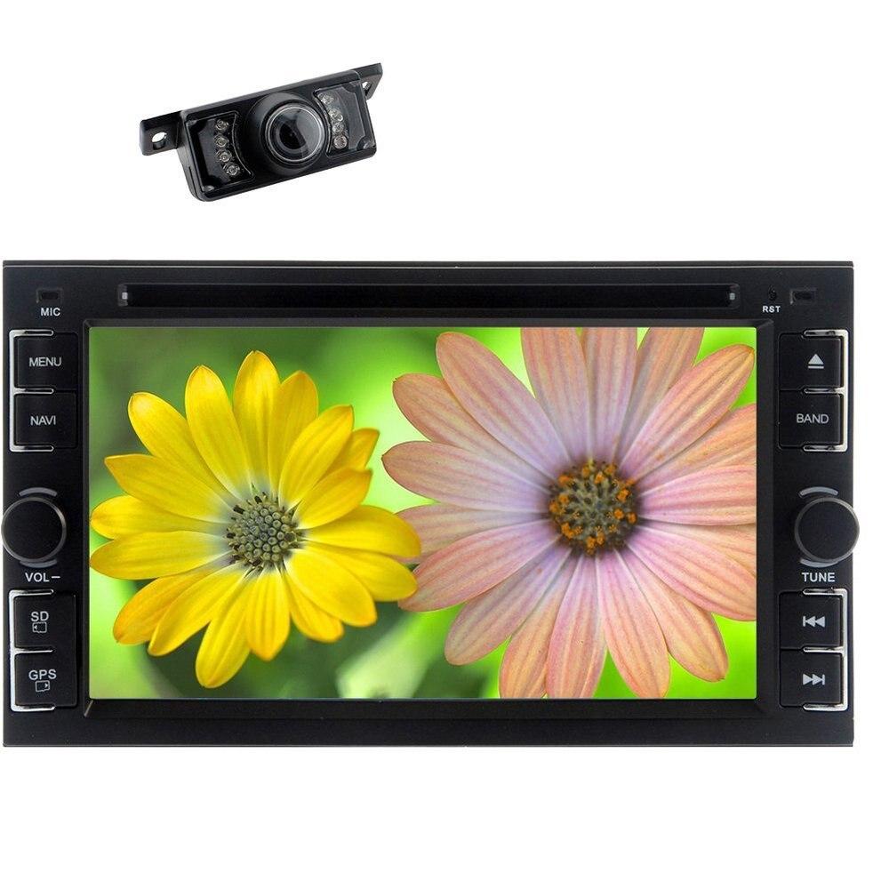 Car Head Unit Stereo 2 Din 6.2 Inch TFT Bluetooth Analog TV USB/SD IPod RDS AM FM Radio IR Transmitter iPod Media backup Camera