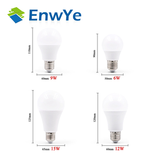Image 2 - EnwYe Led lampe Lampe E27 6W 9W 12W 15W DC12V / AC 220V Smart IC real Power Cold White/Warm Weiß Lampada Ampulle Bombilla LED