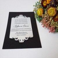 Customized Sample For 5 7inch Silver Mirror Acrylic Wedding Invitation Card