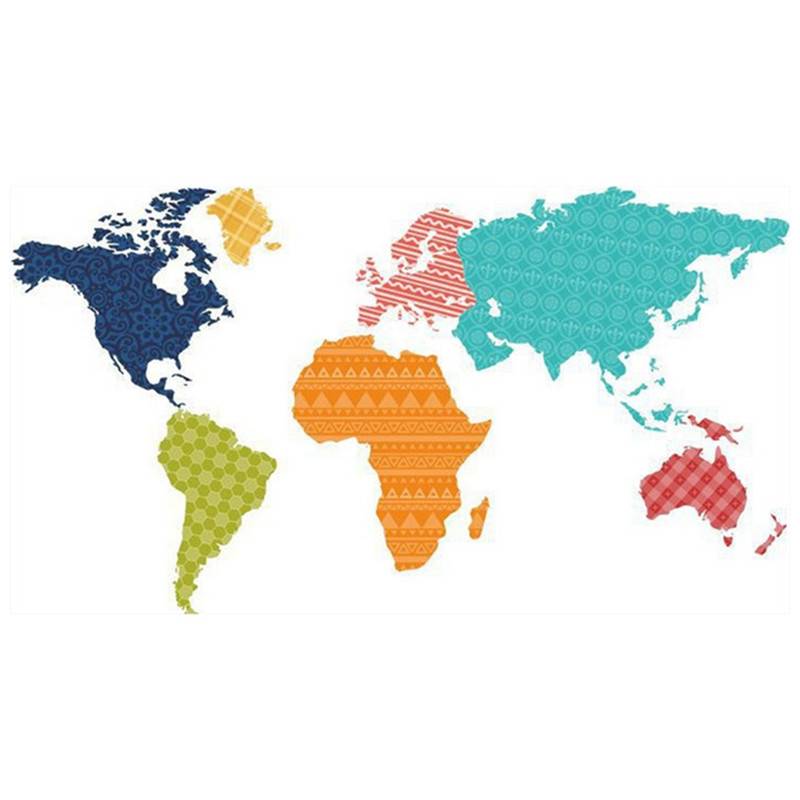 Children coloed puzzle world map 3d pvc wall stickers for kids rooms children coloed puzzle world map 3d pvc wall stickers for kids rooms nursery decoration baby best loved cartoon art wallpaper in wall stickers from home gumiabroncs Image collections