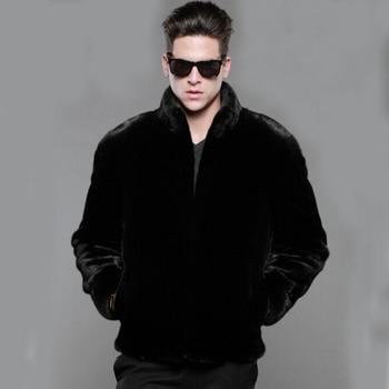 2019 Male Thick Warm Faux Fur Coat Casual Autumn Winter S-4XL