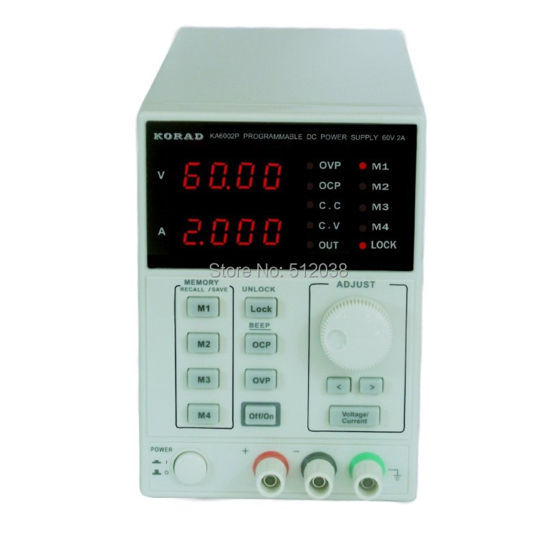 KA6002P - Programmable Precision Variable 60V, 2A DC Linear Power Supply Digital Regulated Lab Grade with USB cable and software it6720 programmable dc power supply 60v 5a lab grade