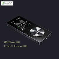 Metal 8GBMP3 MP4 Music Player For Sports Running With LCD Display HIFI Long Recording FM Function TF Card Video Playback Record