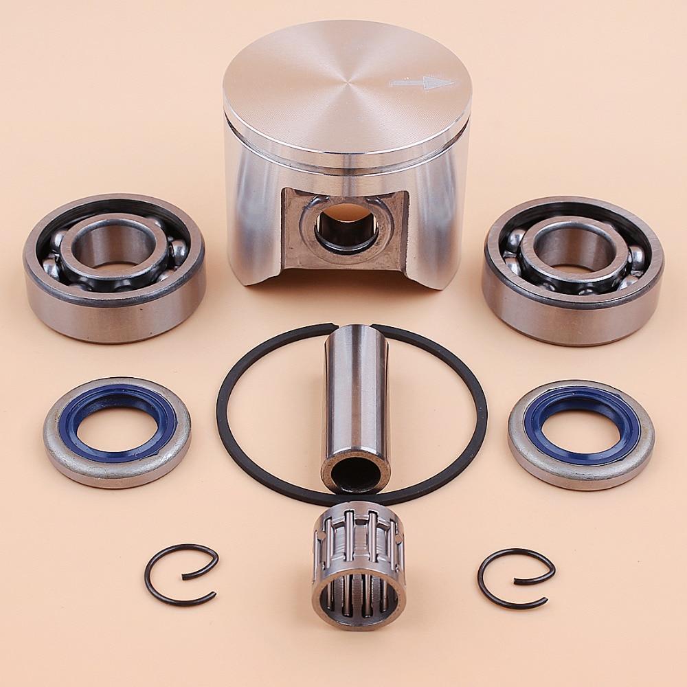 47mm Piston Ring Bearing Oil Seals Kit For HUSQVARNA 359 357 357XP JONSERED 2159 CS2156 CS2159 Chainsaw 12mm Pin 537 15 73-02