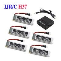 VHO 5PCS 550mah 3 7V Lipo Battery 5in1 For JJRC H37 Eachine E50 SYMA X5HC X5HW
