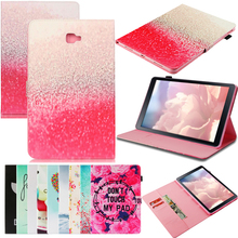 Tablet T580 T585 Funda For Samsung Galaxy Tab A A6 10.1 2016 Luxury Cartoon Leather Wallet Magnetic Flip Case Cover Coque Stand film stylus aoruiika new fashion stand leather case cover for samsung galaxy tab a6 a 10 1 t580 t585 t585n tablet capa funda