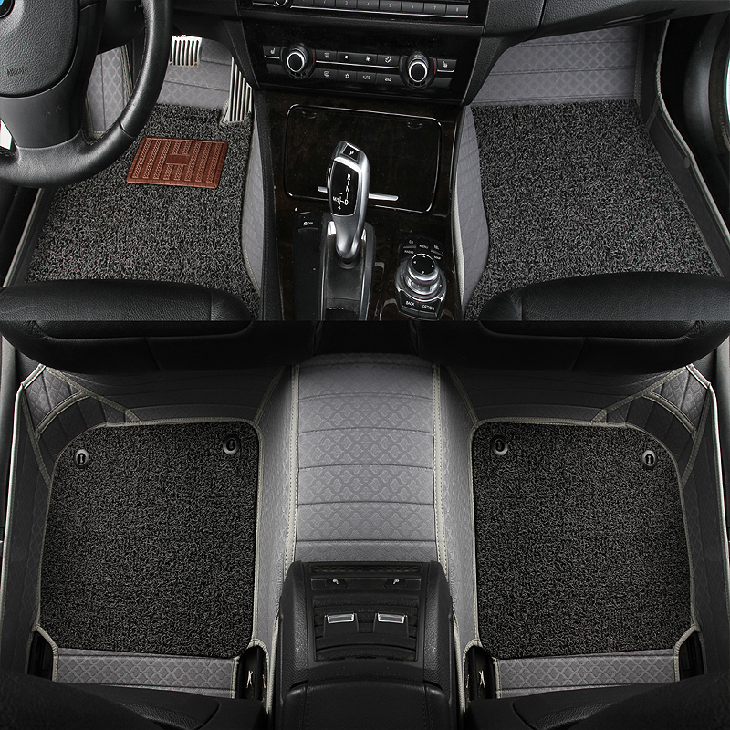 Leather custom car floor mats for hyundai veloster tucson 2019 accent 2008 sonata 2011 solaris 2011