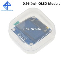 Módulo de tela led para arduino, cor branca 128x64 oled lcd 0.96