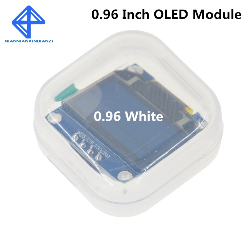 "White Color 128X64 OLED LCD LED Display Module For Arduino 0.96"" I2C IIC SPI Serial New Original"