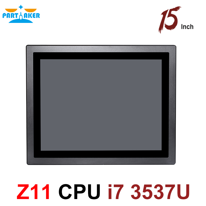 Partaker Intel Core i7 3537U 15 Inch Industrial All In One Panel PC Multi Points Touch Capacitive Screen Tablet Computers
