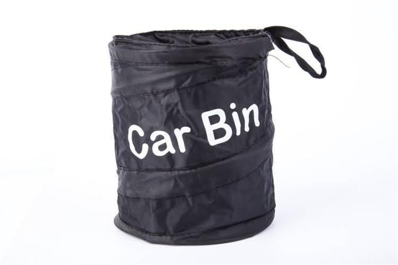 Universal Traveling Portable Car Trash Can Black Collapsible Pop-up Leak Proof Trash Can