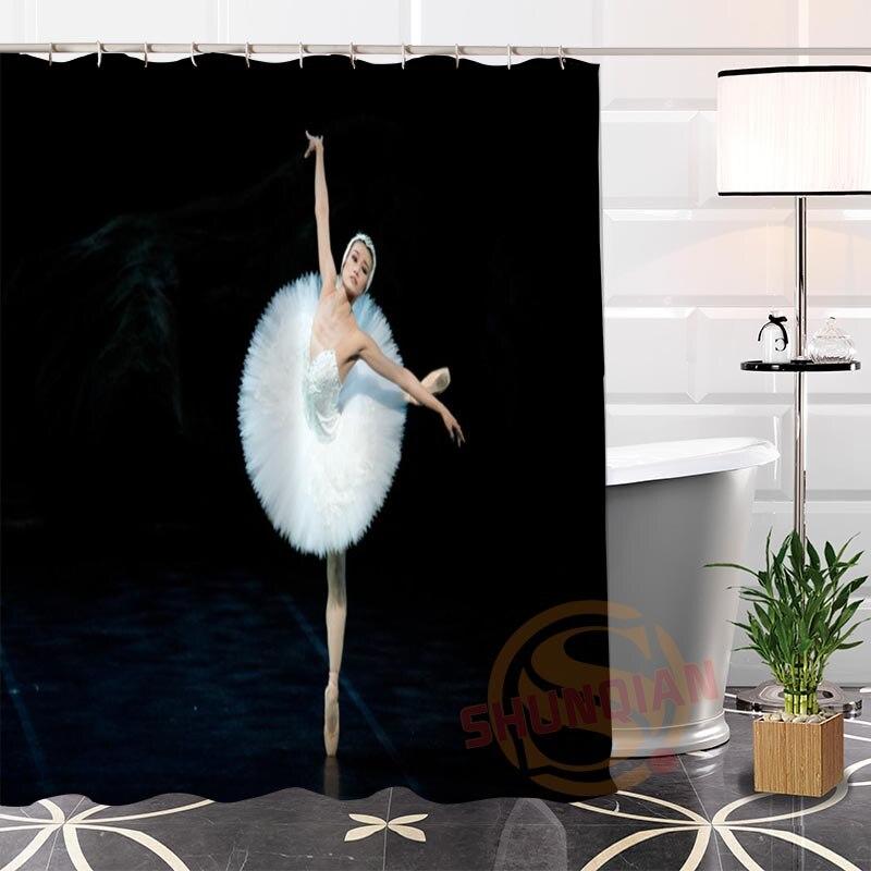100% Polyester Custom Popular Ballet Fabric Modern Shower Curtain bathroom Waterproof New arrival H0223-34