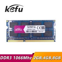KEFU memoria ram ddr3 4 gb 2 gb 8 gb 1066 Mhz pc3-8500 sodimm portátil ddr3 ram 4 gb 2 gb 1066 mhz pc3 8500 notebook ddr 3 ddr3 4 gb 1066(China)