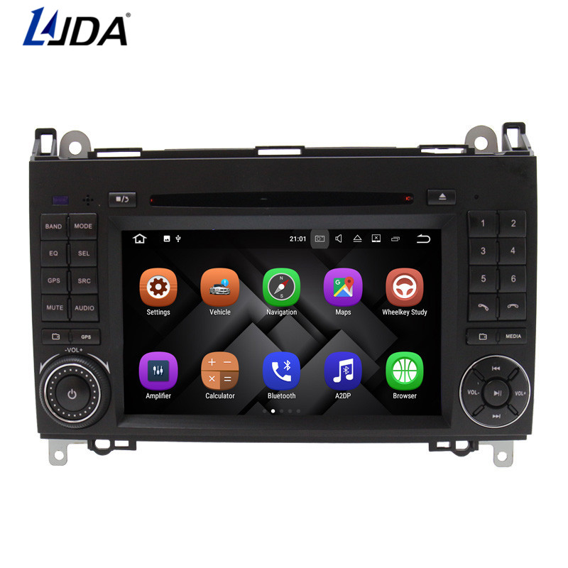 Voiture LJDA 2 DIN Auto Rádio DVD Player Do Carro Para Mercedes W209 Benz  Sprinter W169 B classe W245 B170 B200 Navegação GPS rádio fa117560f0