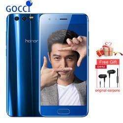 "Оригинал Honor 9 4G LTE мобильный телефон Kirin 960 Восьмиядерный Android 7,0 5,15 ""FHD 1920X1080 6 Гб ram 128 ГБ rom 20.0MP"
