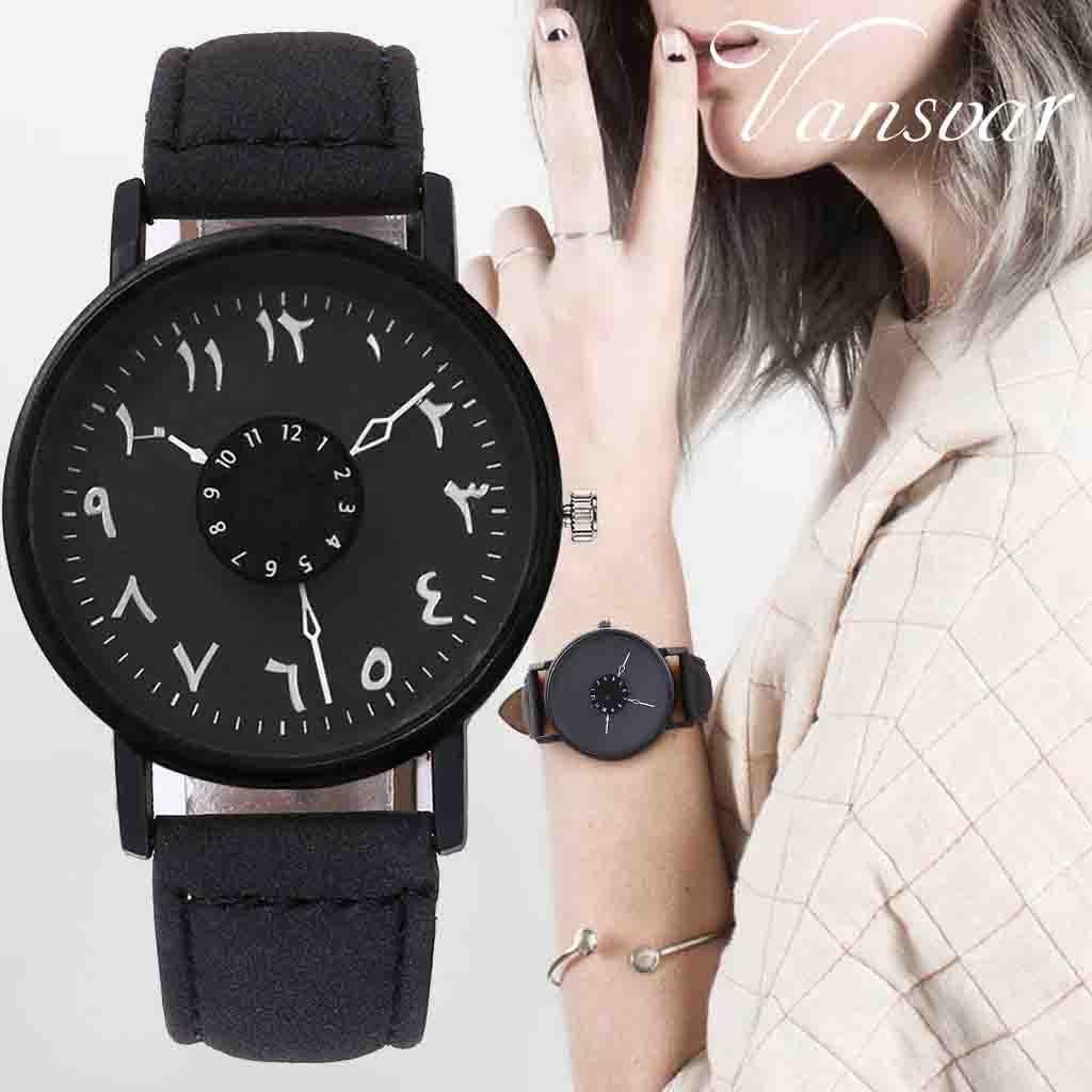 Vansvar Silver Arabic Numbers Watch Leather Womens Clock Fashion Casual Women Quartz Wristwatches Relogio FemininoVansvar Silver Arabic Numbers Watch Leather Womens Clock Fashion Casual Women Quartz Wristwatches Relogio Feminino