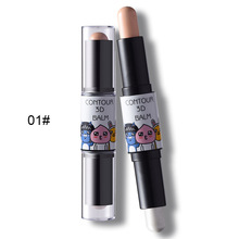 New Face Makeup 3D Profile 3 Colors High Light Waterproof Long-lasting Bright Concealer Double Face Concealer Stick Highlighter
