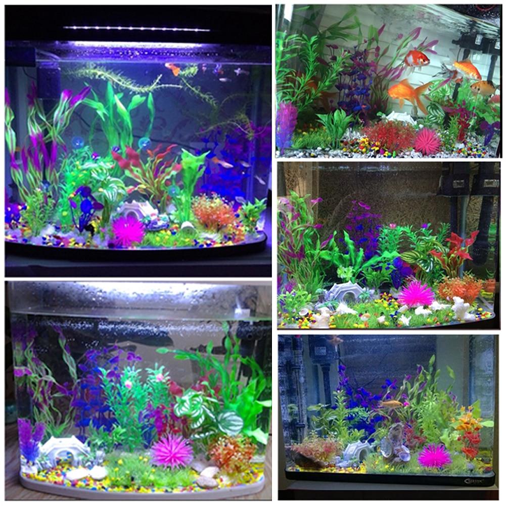 Fish price for aquarium in india - 1pc Artificial Aquarium Plant Grass Green Plastic Water Grass Fish Tank Aquarium Aquatic Decorative Landscape Supplies